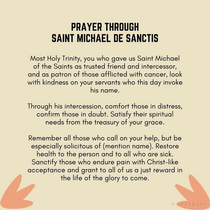 prayer through saint michael de sanctis