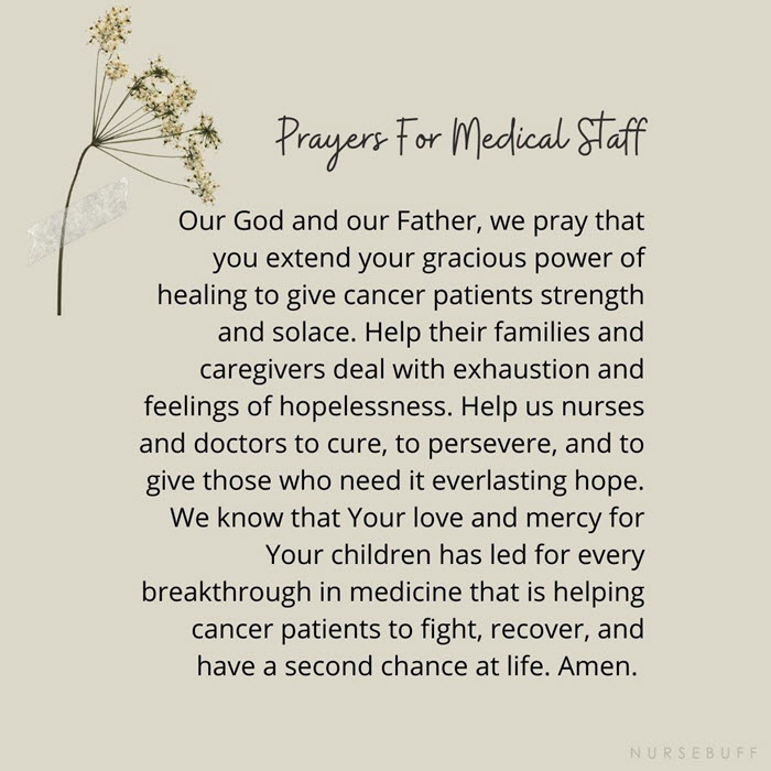 prayers for medical staffs