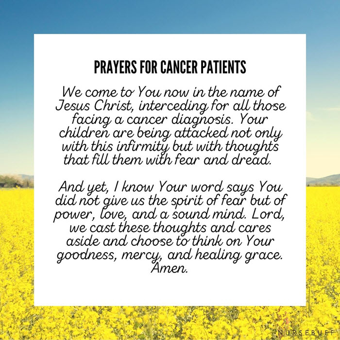 the prayers for cancer patients
