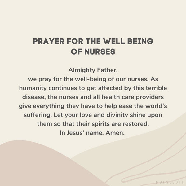 prayer for the well being of nurses