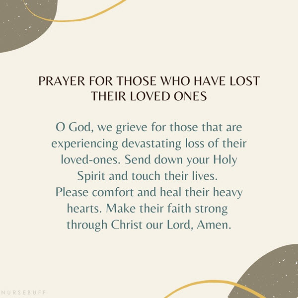 Prayer for those who have lost their loved ones