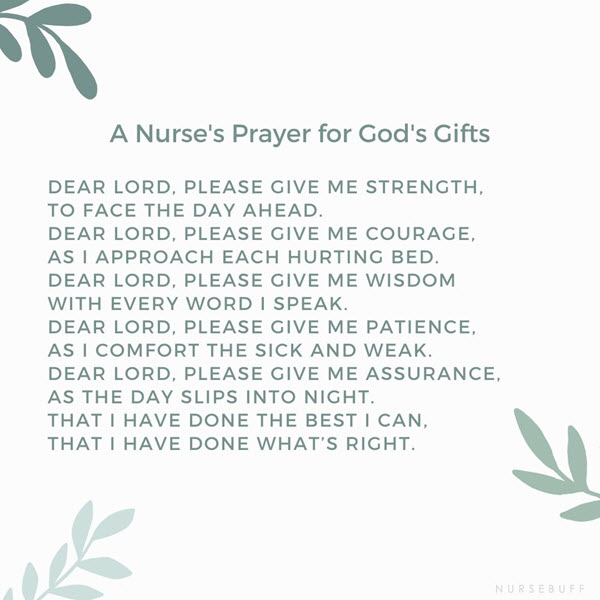 a nurses prayer for gods gifts