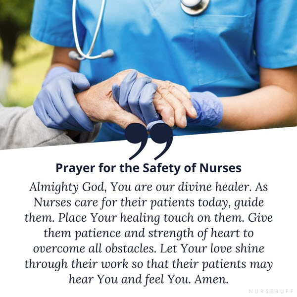 a prayer for the safety of nurses