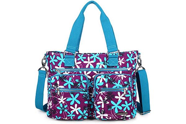 la packmore water repellent nylon shoulder bag