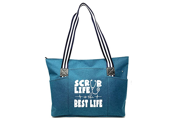 large nursing zippered tote bags with pockets