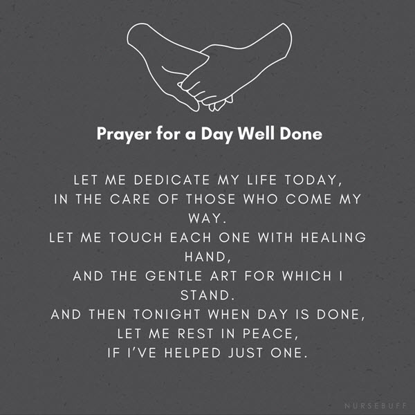 prayer for a day well done