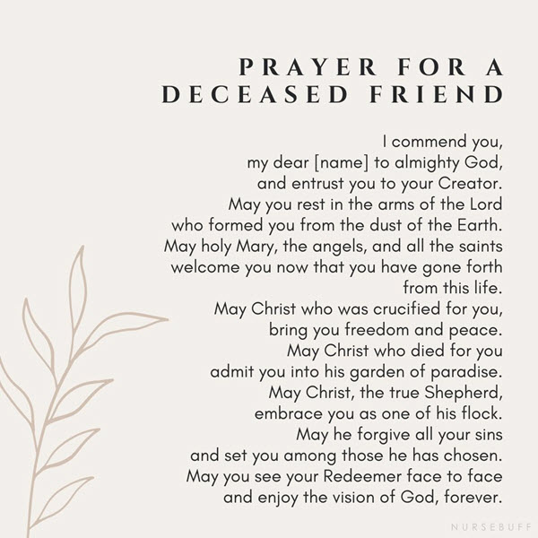 prayer for a deceased friend