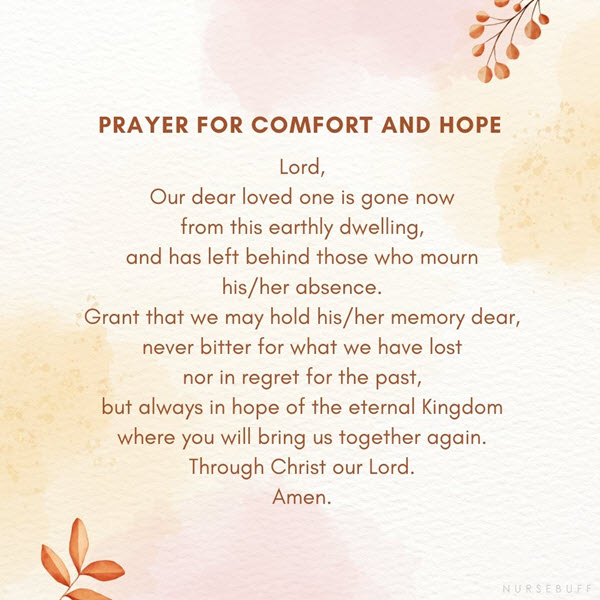 prayer for comfort and hope