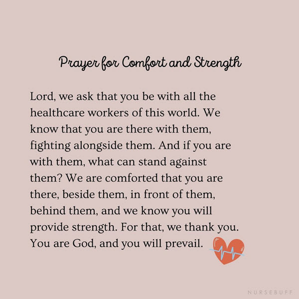 prayer for comfort and strength