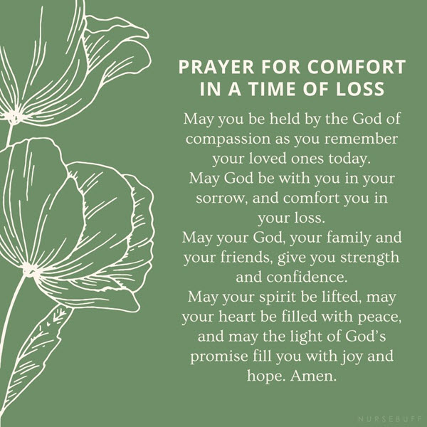prayer for comfort in a time of loss