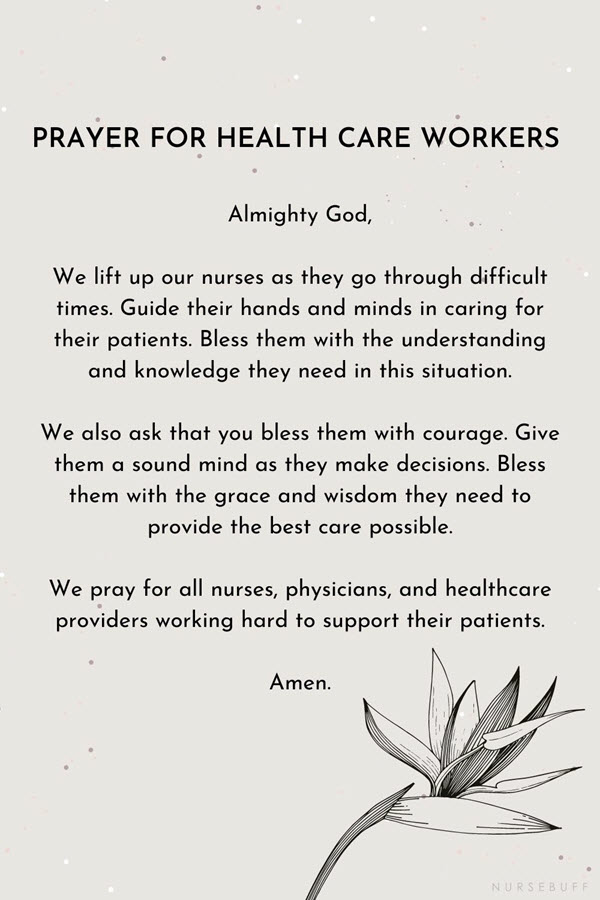 prayer for health care workers