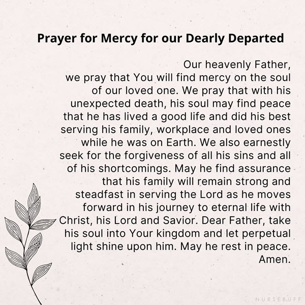 prayer for mercy for our dearly departed