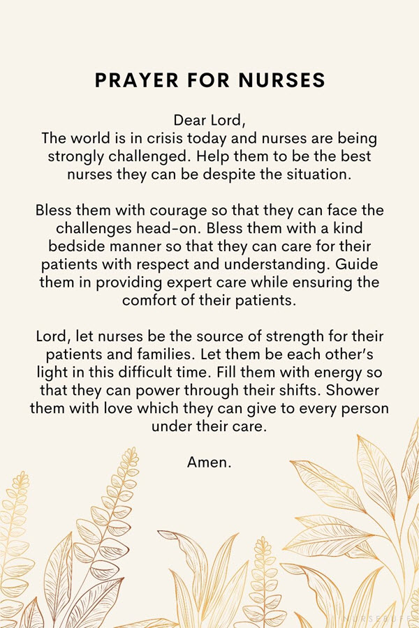 prayer for nurses