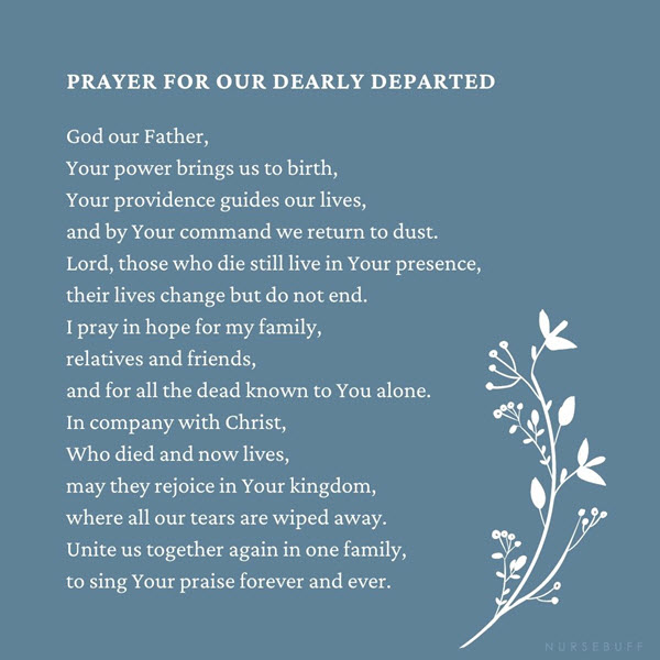 prayer for our dearly departed