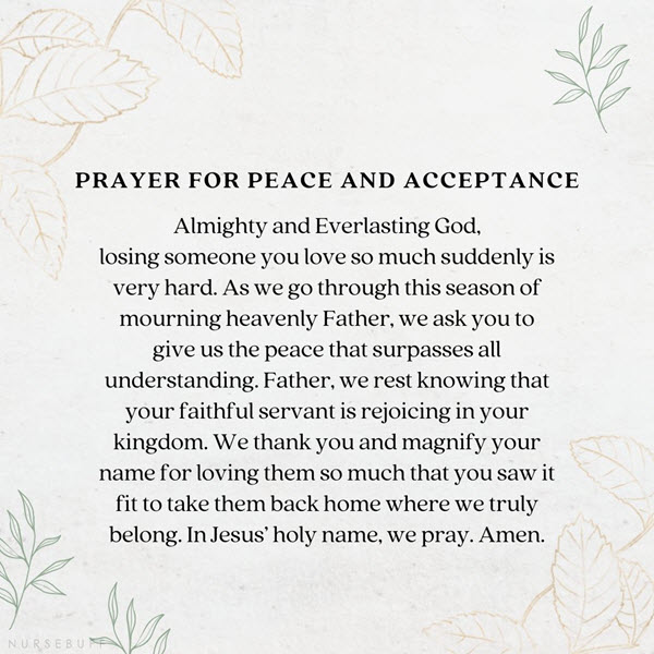 prayer for peace and acceptance