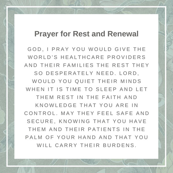 prayer for rest and renewal