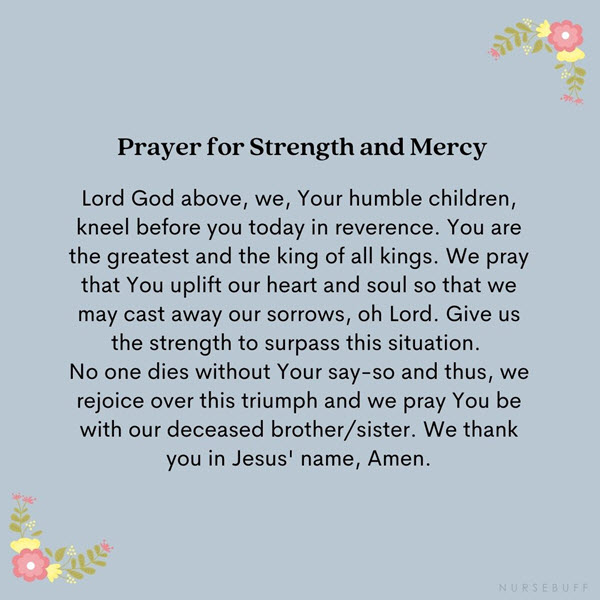 prayer for strength and mercy