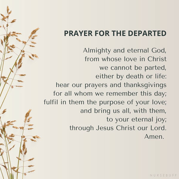 prayer for the departed