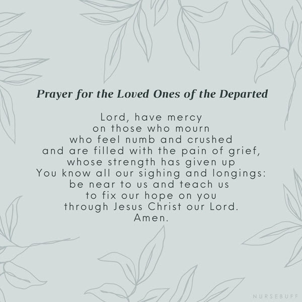 prayer for the loved ones of the departed