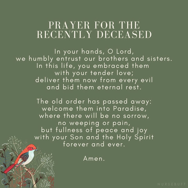 prayer for the recently deceased