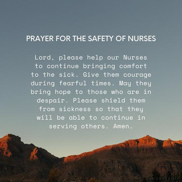 prayer for the safety of nurses