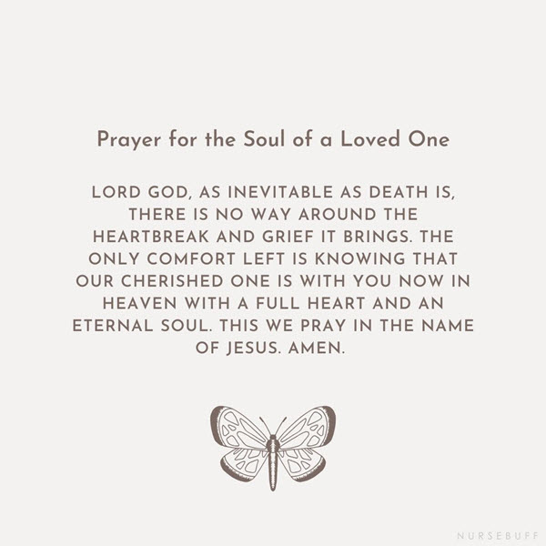 prayer for the soul of a loved one