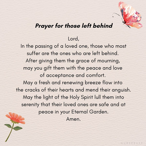 prayer for those left behind