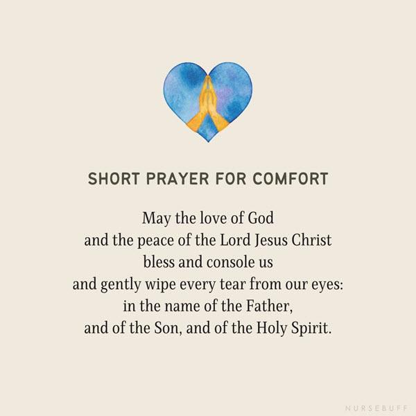 short prayer for comfort