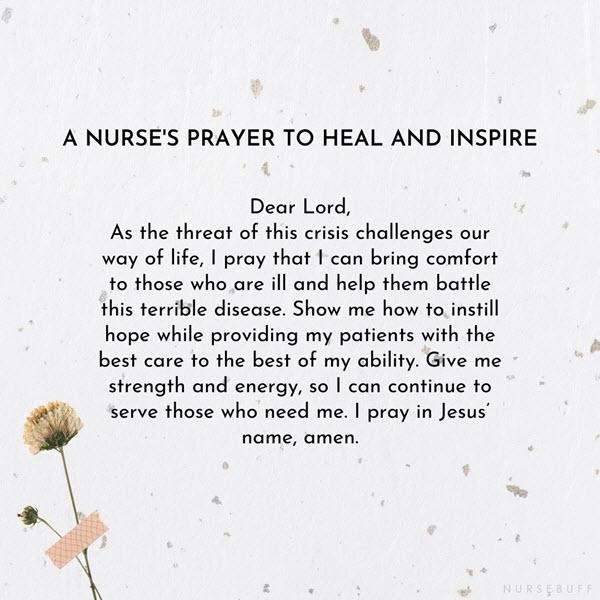 a nurses prayer to heal and inspire
