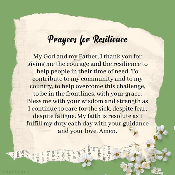 prayers for resilience