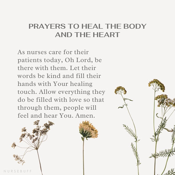 prayers to heal the body and the heart